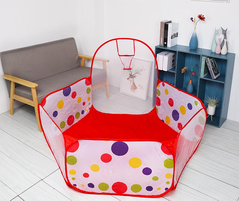 Ballx Pool with Basket Children Toy Ocean Ball Pit Baby Playpen Tent Outdoor Toys for Children Ballenbak 1