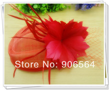 Free shipping 3color sinamay hats fascinator hair accessories cocktail hat party hats feather millinery headwear 4Pcs/lot MSF284(China)