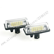 2pcs Brand new for Toyota LED License Plate Lamp18 led  License Plate light pure white for Crown(03-09)