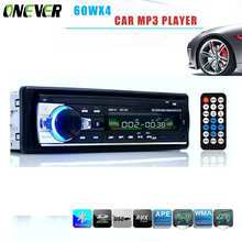 60WX4 Car Radio 12V Bluetooth V2.0 Car Audio Stereo In-dash 1 Din FM Aux Input Receiver SD USB MP3 MMC WMA Car Radio Mp3 Player(China)