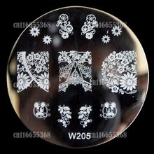 Beautiful Design Metal Nail Art Print Image Stamping Template Stamp Plate W series Full Cover Hot Lace Pattern W205