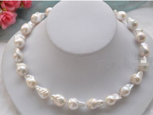 free shipping $wholesale_jewelry_wig$ AAA+ Rare Huge LARGE 15-25MM WHITE BAROQUE KESHI AKOYA PEARL NECKLACE 18""
