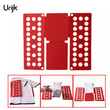 Urijk Red Practical Home Kid Clothes Adult Folder Organizer Plastic Quick T-Shirt Clothes Laundry Shirt Fold Folding Board(China)