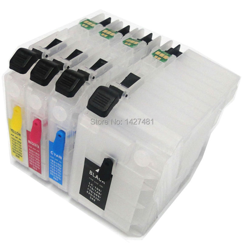 5 set For brother LC105 LC109 LC 109 LC105 refill ink cartridge with ARC chips for brother MFC-J6520DW MFC-J6720DW MFC-J6920DW<br><br>Aliexpress