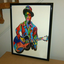 Robert Johnson, Guitar, Guitarist: Crossroads, Blues  Abstract CANVAS art --TOP ART OIL painting--36 inches
