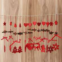12pcs/lot Hanging Pendants Christmas Ornament Decorations Xmas Snowflake for Christmas Tree Decoration DIY Crafts Accessories