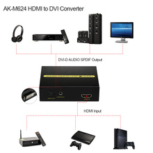 AK-M624 HDMI to DVI Converter 1080P HDMI Input DVI-D AUDIO SPDIF Output Adapter for PS3 for XBOX 360 Blu-ray DVD HD Set-top Box