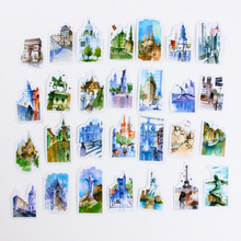 1Pcs/Sell World Architecture Kawaii Memo Pad Diary Stickers Pack Post It Planner Scrapbooking Stationery Escolar School Supplies(China)