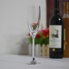 2017 fashion personal customed wedding champagne glasses party wine goblets