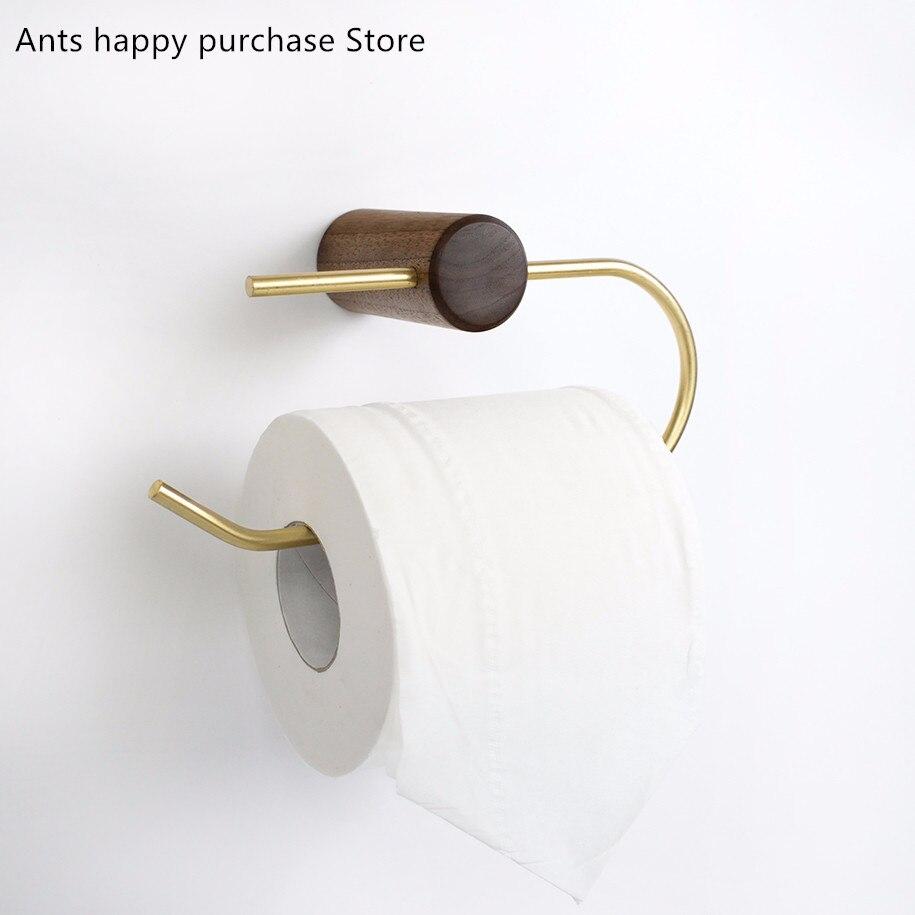 Bathroom Towel Paper Tissue Toilet Roll Holder Wall Mount Rail Dispenser Rack LC