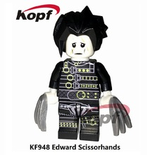 Single sales KF948 Edward Scissorhands Film Movie Cartoon Super heroes Action Figure Building Blocks Bricks Kids Gift Toys model