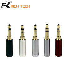 3PCS 3.5mm Plug Audio Jack 3Pole Gold-plated Earphone Adapter For DIY Stereo Headset Earphone or Used for Repair Earphone