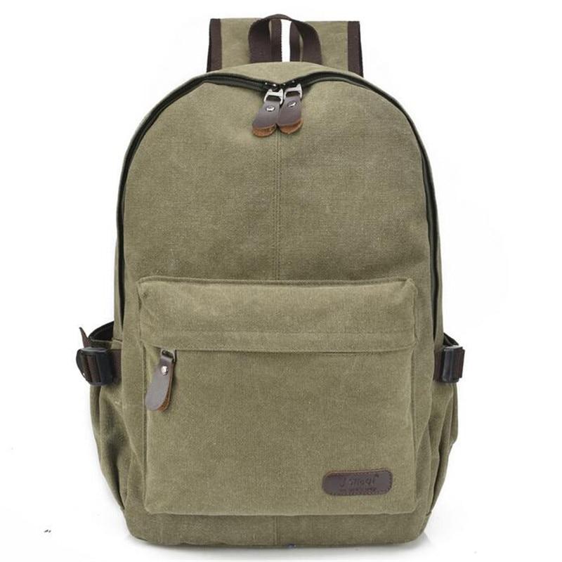 High Quality Men Canvas Backpack 2017 Zipper Solid Males Casual Travel Shoulder Bag Teenagers Large School Bag Mochila Masculina<br><br>Aliexpress