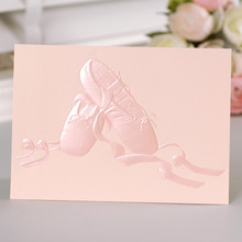 12set fairy tale theme ballet Card leave message cards Lucky Love valentine Christmas Party Invitation Letter envelope