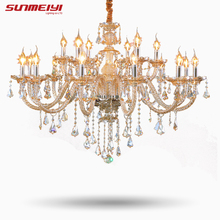 Tiffany Chandeliers and pendant Living Room Lamps Lighting Modern Crystal Chandelier Indoor Lamp Hotel Hall Lights 002(China)