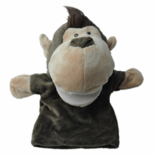 Cute Monkey Plush Velour Animals Hand Puppets Chic Designs Kid Child Learning Aid Toy(China)