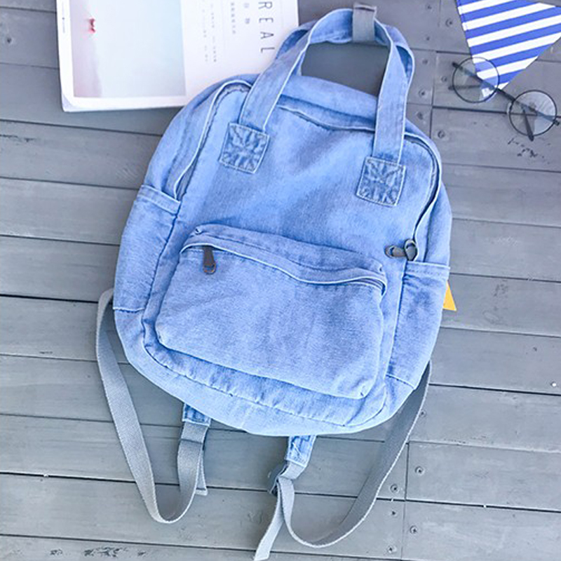 travel notebook bolso jeans school bags girl bagpack schoolbag for boys mochila mujer vintage denim backpack women shoulder bags(China (Mainland))