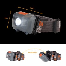 R3+2LED 800 Lumens 4 Modes Mini Headlamp Outdoor Headlight Waterproof Head Lamp Lantern For Hunting,Use AAA Battery