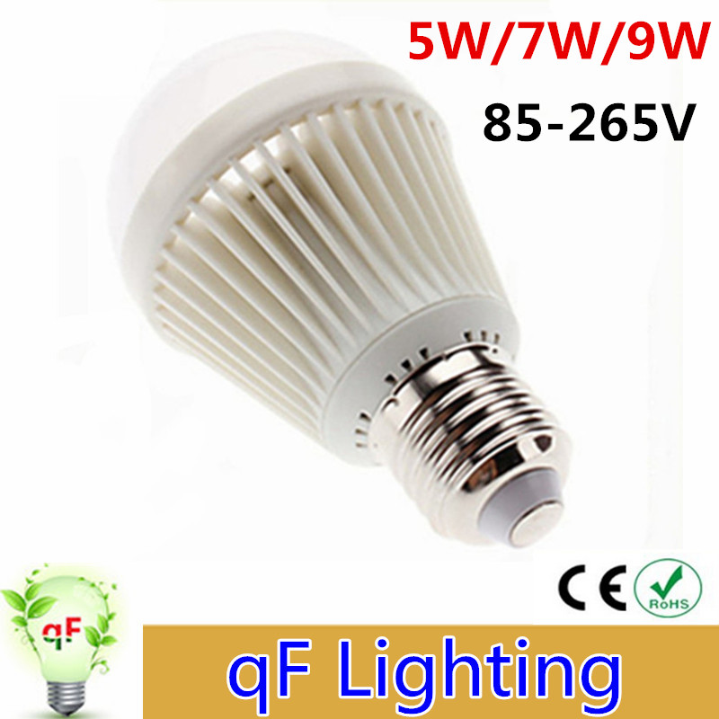 LED bulb lamp E27 2835SMD Cold white warm white 5W 7W 9W High brightness 85-265V Free shipping home lighting lamp<br><br>Aliexpress