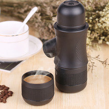 Manual Mini Portable Manual Espresso Coffee Maker Hand Operated Coffee Machine Pot For Home Outdoor Travel Supplies Design 2017(China)