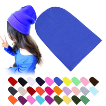 Winter Warm Hats Unisex Knitting Women Men Wool Fluorescence Color Tabby Solid Elastic Beanie Hedging Hat