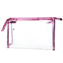 New Transparent Waterproof PVC Cosmetic Bag Envelope Receive Toiletry Bags Makeup Bag Organizer 5 Colors To Choose(China)