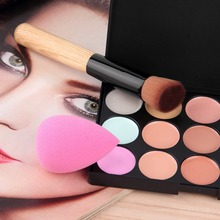 15 colors Concealer Facial Face Cream Care Camouflage Makeup base Palettes Cosmetic with Sponge Puff Powder Brush Best selling