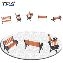 Teraysun 1/50 scale architectural model making Model Train HO OO N scale bench chair for park garden chair