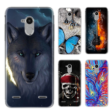 Silicone Soft TPU Case For ZTE V7 Lite Printing Cool Design Back Cover For ZTE Blade V7 Lite Phone Cases+Glass Film V7 Lite Capa