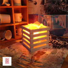 Creative resin Himalayan crystal salt lamp table lamp light bedroom adornment night light lamps of the head of a bed