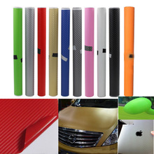 New 2015 Car Styling 30*130cm DIY Waterproof Car Stickers 3D Car Carbon Fiber Vinyl Many Color Available Decorative Film Paper(China)