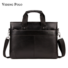 2017 New arrival POLO brand men shoulder bag man leather casual business briefcase computer laptop handbags travel Messenger bag
