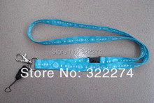 "custom cheap 5/8""blue Neck Strap lanyard ID Card/Cell Phone strap Badge Holder lanyard  wholesale customized logo printing"