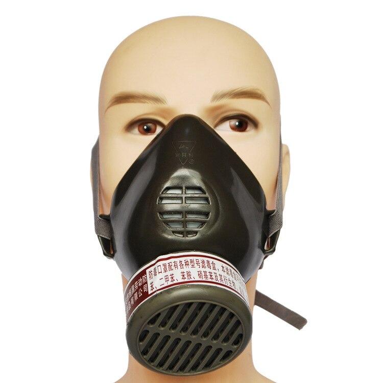 activated carbon mask cinereus Silicone respirator gas mask paint spray pesticides seguridad en el trabajo gas mask<br><br>Aliexpress
