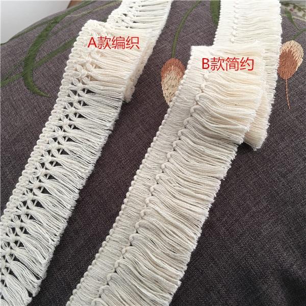 5 cm Wide 1 yard Cotton Tassel Trim For Sewing Handcraft 4 cm