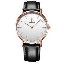 IK Colouring Male Quartz Watch Super Slim Japan Movement Stainless Steel Case Leather Strap Men Clock Waterproof Relojes Hombre