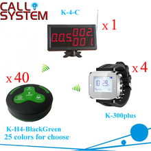Waiter Paging System for bar/pub/restaurant service calling equipment 1 display 4 watches 40 buttons (call;bill;drink;cancel)