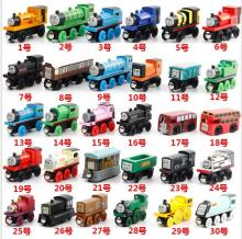 8pcs/lot wooden Thomas train toys/ wood magnetic Thomas And Friends Train/ Wooden Complete Set Of Car Toy/ Engine Train Toys