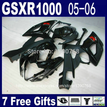 Injection molding fairing body kit for SUZUKI GSXR 1000 05 06 K5 GSXR1000 2005 2006 all black motorcycle fairings set FL69