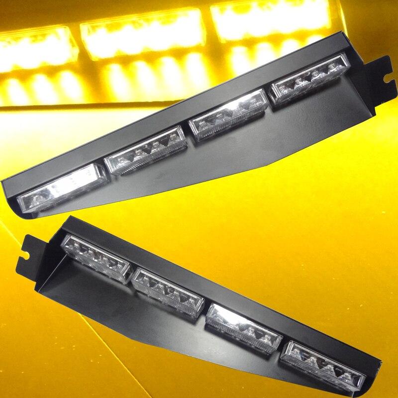 Car-Styling Universial Big Super Brightness 32 LED Car Strobe Flash Light Dash Emergency Amber Poloce Light Warning Fog Light<br>