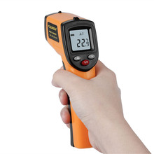 Floureon GM320 Laser LCD Digital IR Infrared Thermometer Temperature Meter Gun Point -50~330 Degree Non-Contact Thermometer(China)