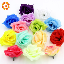10pcs Big Rose Artificial Flowers Ball Head Brooch Festival Home Decor Wedding Decoration Decorative Flower Silk Flower