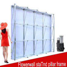 Aluminum Flower Wall Folding Stand Frame for Wedding Backdrops Straight Banner Exhibition Display Stand Trade Advertising Show(China)