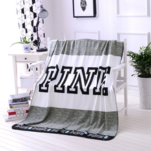 Kintting Blanket Pink VS Secret Blanket Manta Fleece Blanket Sofa/Bed/Plane Travel Plaids the best gift for lady(China)