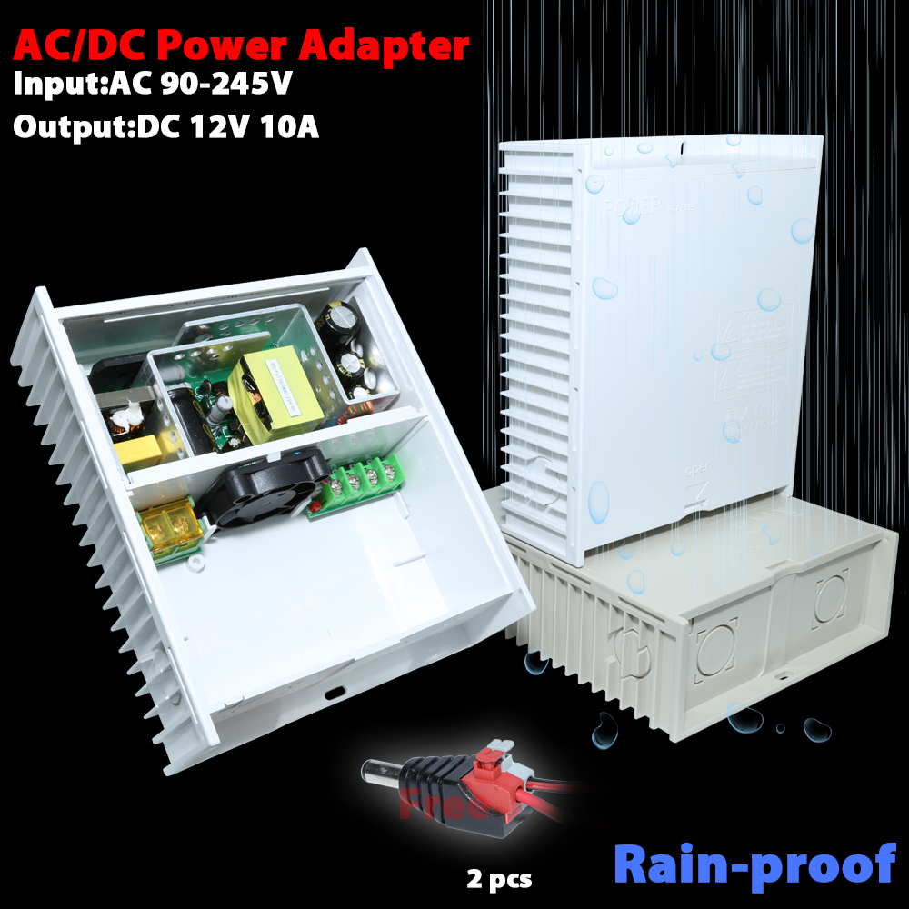 AC/DC power adapter DC12V 10A 2CH output<br>