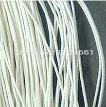 wire  Cord 1mm hot- 80M Wholesale White Waxed Cotton Necklace **     Waxed Thread Polyester Cord Necklace Rope