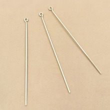 70mm Hard Eye Pins Findings DIY Jewelry Making Craft Mixed Color Plated Brass for you Choose(China)