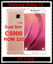 "Samsung Galaxy C5 Duos Original Unlocked GSM 4G LTE Android Dual Sim Mobile Phone C5000 Octa Core 5.2"" 16MP RAM 4GB ROM 32GB(China)"