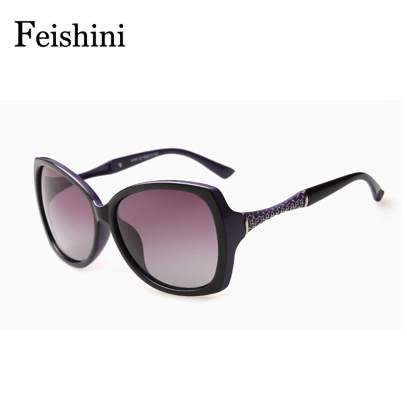 FEISHINI HD Anti fatigue UVA Glasses 2017 MEW Floral Advanced PC Lens Butterfly Sunglasses Women Polarized luxury<br><br>Aliexpress