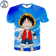 2017 Brand Clothing Cute Anime Cartoon One Piece Luffy 3D T shirt Fitness Funny Casual Tee Shirt Camisetas Hombre